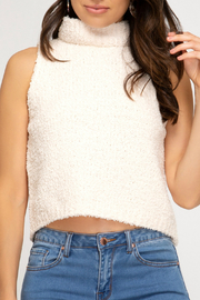 She + Sky Sleeveless Sweater Tank - Product Mini Image