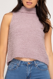 She + Sky Sleeveless Sweater Tank - Front cropped