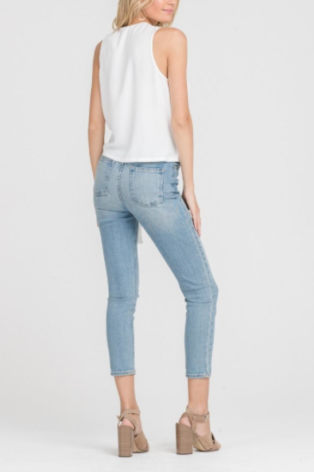 Lush Sleeveless Tied Top - Side Cropped Image