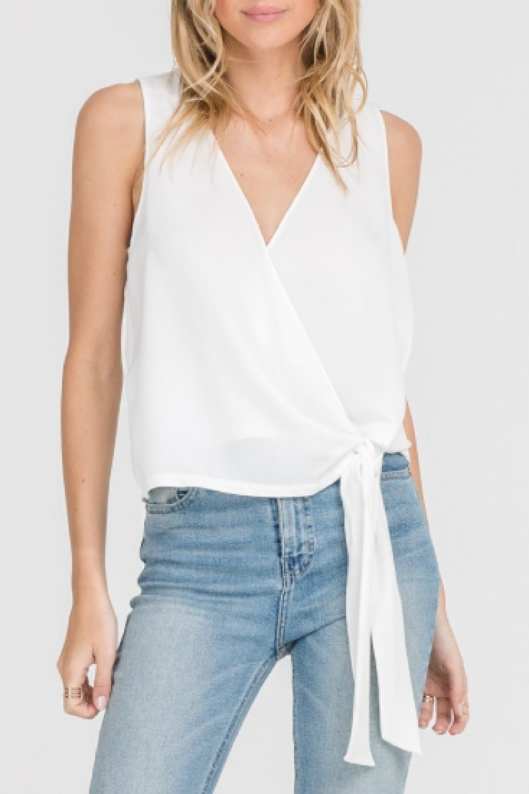 Lush Sleeveless Tied Top - Front Cropped Image