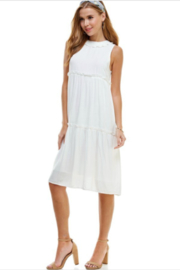 TCEC Sleeveless Tiered Dress - Front full body