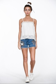En Creme Sleeveless Top W/lace - Product Mini Image