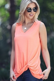 Wanna B Sleeveless Top with Front Knot - Product Mini Image