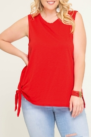 She + Sky Sleeveless Top with Side Tie Detail - Product Mini Image