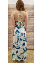 Soieblu Sleeveless Tropical Floral Maxi Dress - Front full body