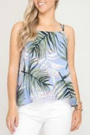 She + Sky Sleeveless Tropical Top - Product Mini Image