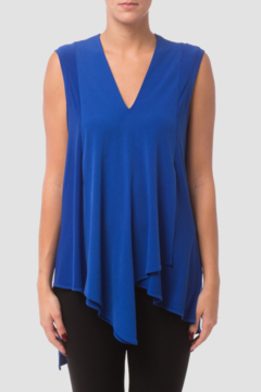 Joseph Ribkoff  Sleeveless Tunic, loose fit with a v-neck and wrap-style handkerchief hemline. - Product List Image