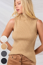 Trend Notes  Sleeveless Turtleneck - Front cropped