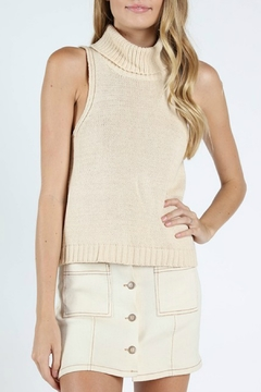 Shoptiques Product: Sleeveless Turtleneck Sweater