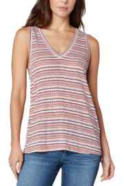 Liverpool  Sleeveless V-Neck Knit Tee - Front cropped