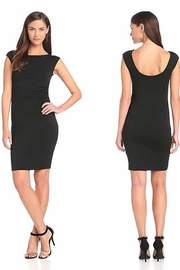 Michael Stars Sleeveless Wide Neck Scoop Back Ruched Bamboo Jersey Dress - Product Mini Image