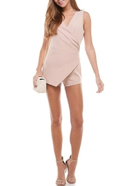 TCEC Sleeveless Wrap Romper - Back cropped