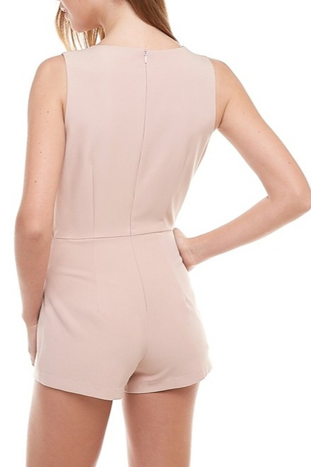TCEC Sleeveless Wrap Romper - Side Cropped Image