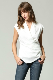 Olivaceous Sleeveless Wrap Top - Product Mini Image