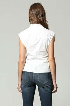 Olivaceous Sleeveless Wrap Top - Alternate List Image