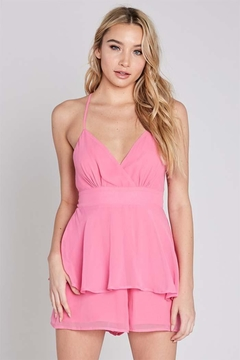Shoptiques Product: Sleeveless x-Back Romper