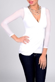 Sleevey Wonders  White Mesh Sleeves - Front cropped