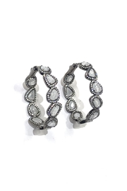 Lets Accessorize Sliced Moonstone Hoops - Product Mini Image