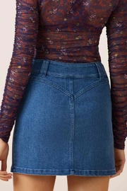 Slide Denim Skirt - Back cropped