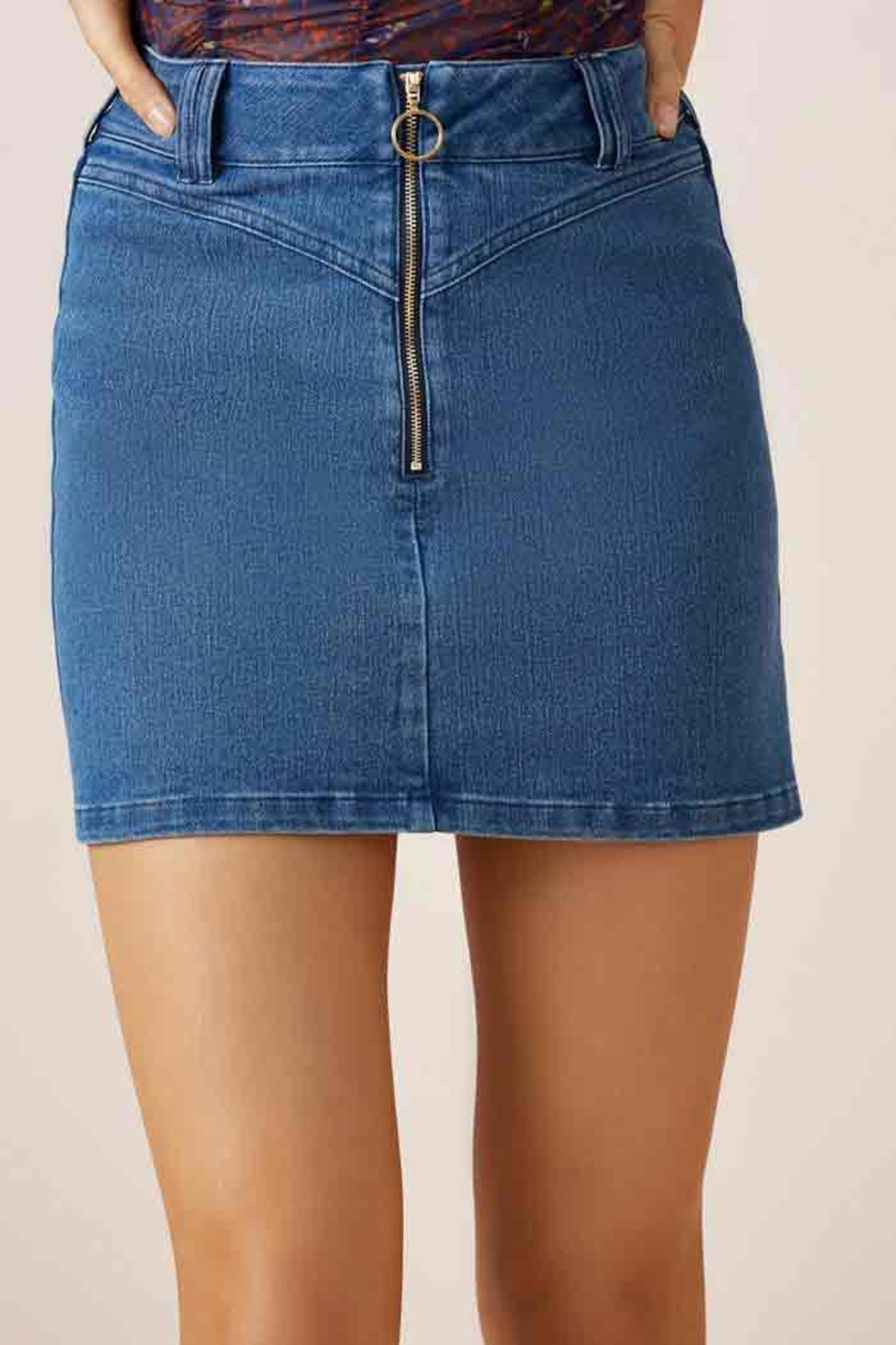 Slide Denim Skirt - Main Image