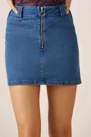 Slide Denim Skirt - Front cropped