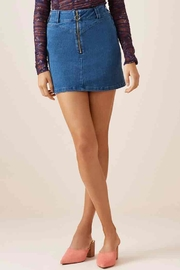 Slide Denim Skirt - Front full body