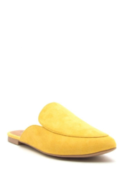 Qupid Slide In Mules Yellow - Product Mini Image