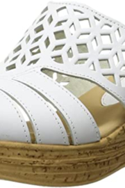 Spring Step  Slide on style sandal with laser cut details. - Product Mini Image