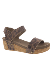 Corky's Shoes Slidell Leopard wedge - Front cropped