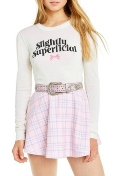 Wildfox Slightly-Superficial Cropped Long-Sleeve - Product List Image