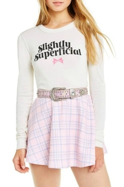 Wildfox Slightly-Superficial Cropped Long-Sleeve - Product Mini Image
