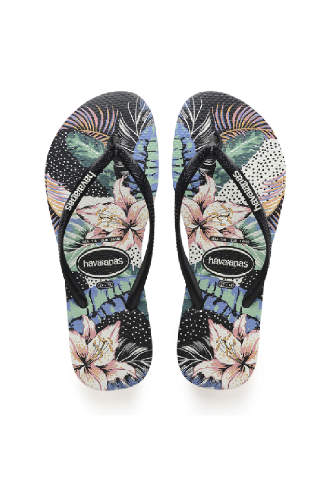 Havaianas Slim Animal Floral - Front Cropped Image