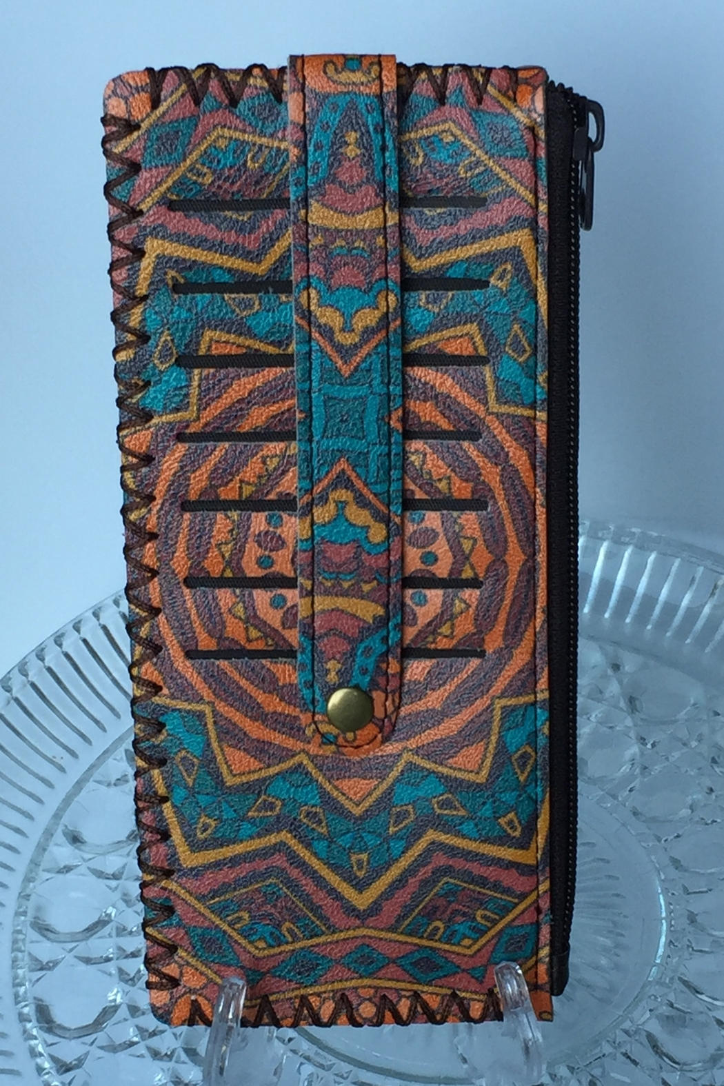 Ole' slim credit card wallet with snap - Front Full Image