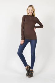 Zenana Outfitters Slim Fit Long Sleeve Stretch Cotton Top - Product Mini Image