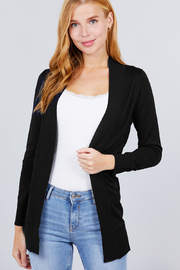 Active USA Slim Fit Pocket Open Sweater Cardigan - Product Mini Image