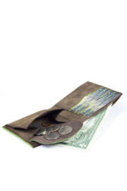 Kjore Slim Fold Wallet Colorful Coins - Front cropped