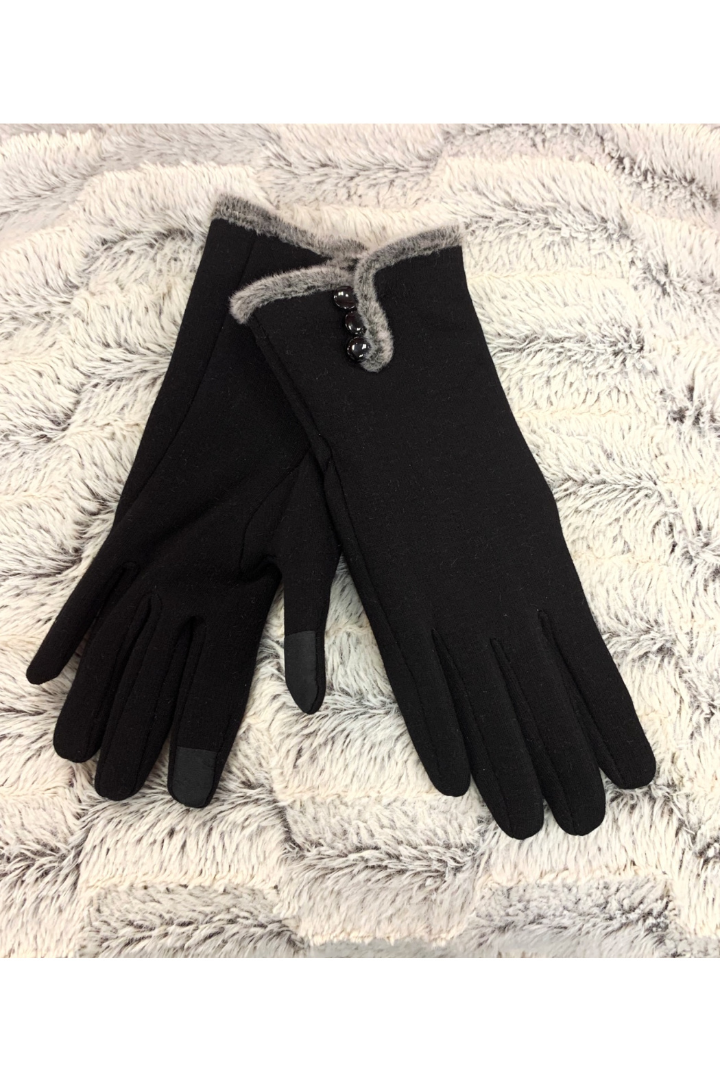 Giftcraft Inc.  Slim Gloves w/ Touchscreen Ftr - Front Cropped Image