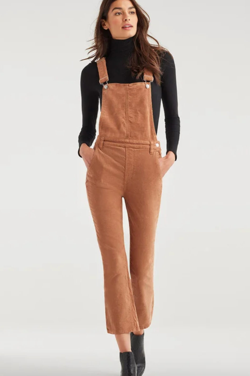 7 For all Mankind Slim Kick Overall - Main Image