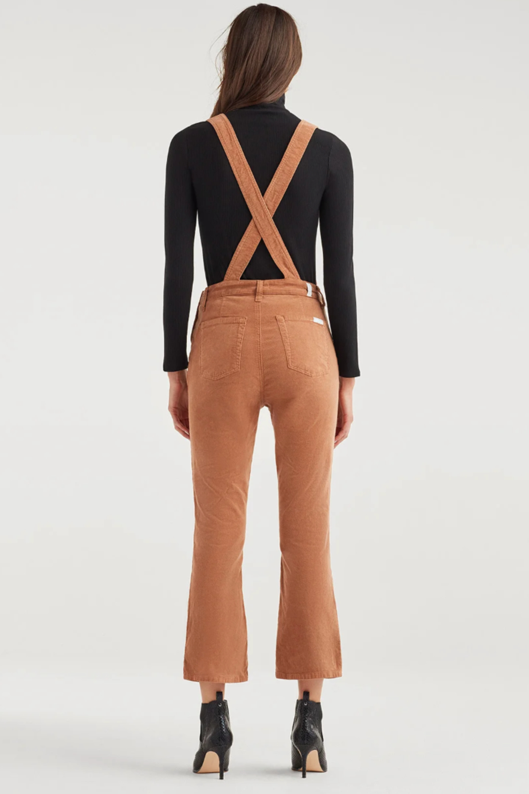 7 For all Mankind Slim Kick Overall - Side Cropped Image