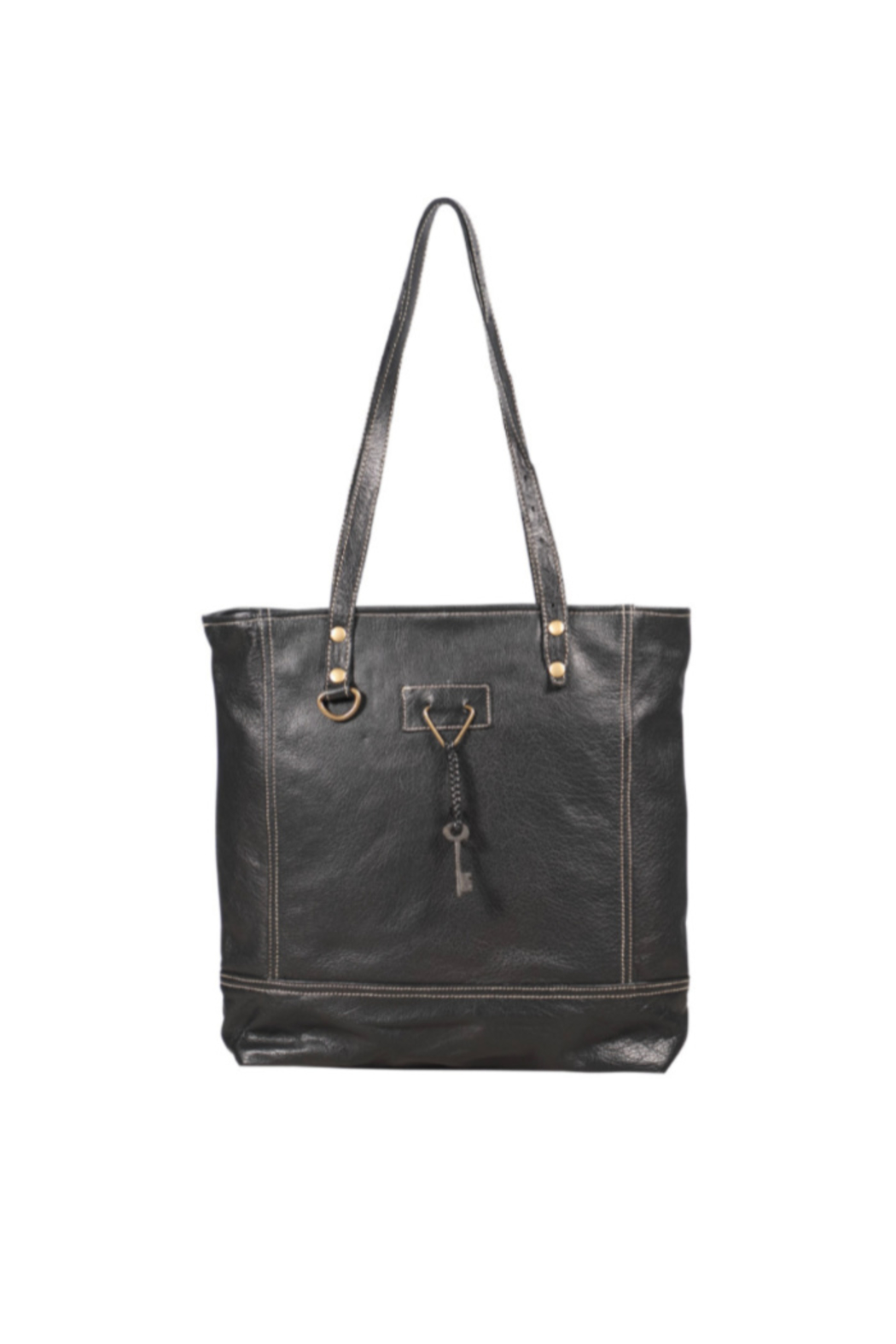 Myra Bags Slim Leather Tote Bag - Main Image