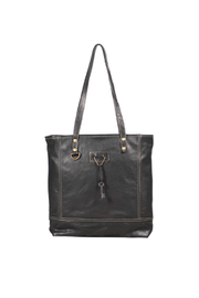 Myra Bags Slim Leather Tote Bag - Front cropped