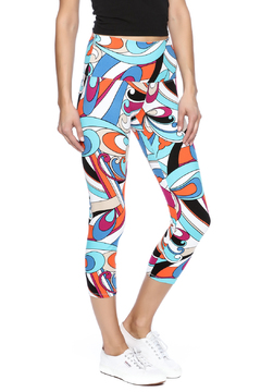 Slim-Sation by Multiples Retro Geometric Legging - Product List Image