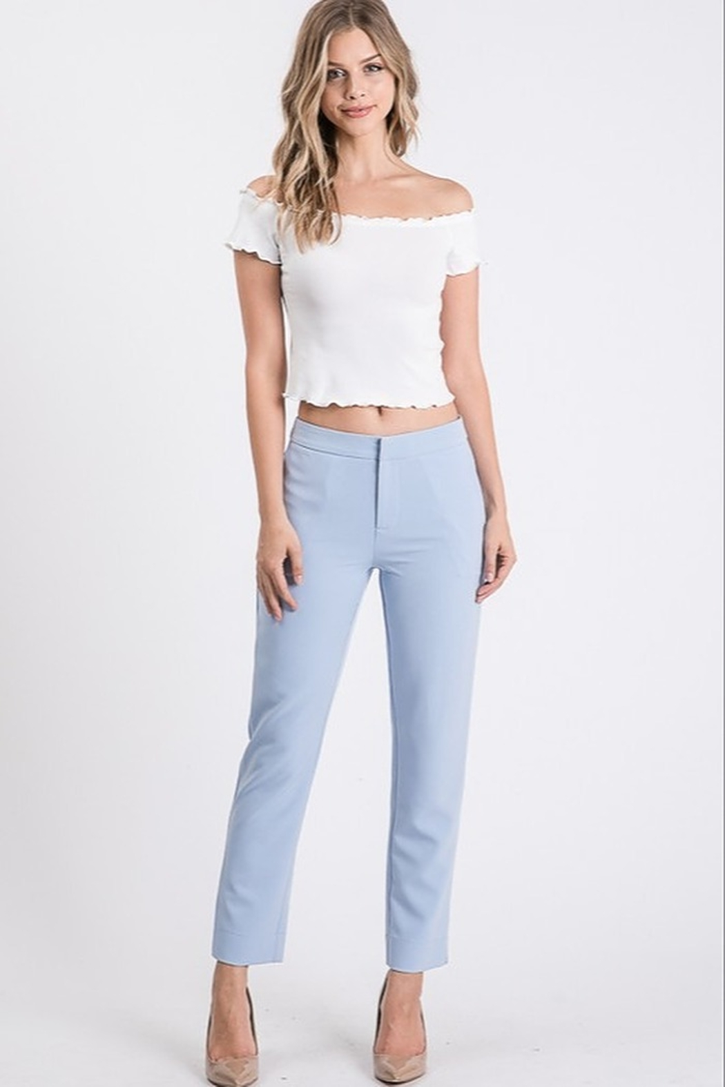 Idem Ditto  Slim Suit Pant - Front Cropped Image
