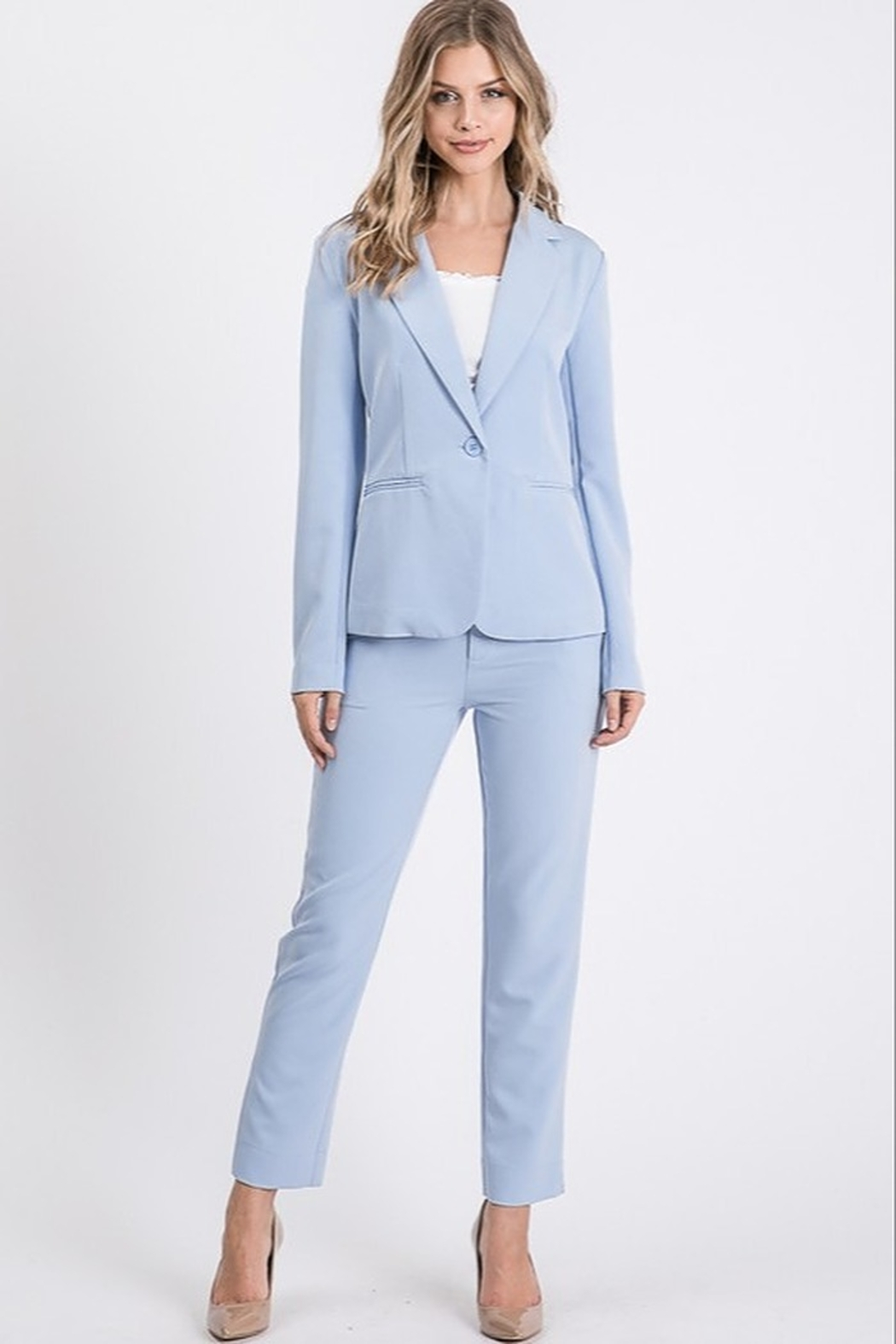 Idem Ditto  Slim Suit Pant - Side Cropped Image