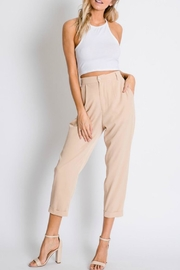 Davi & Dani Slim Tan Pants - Product Mini Image
