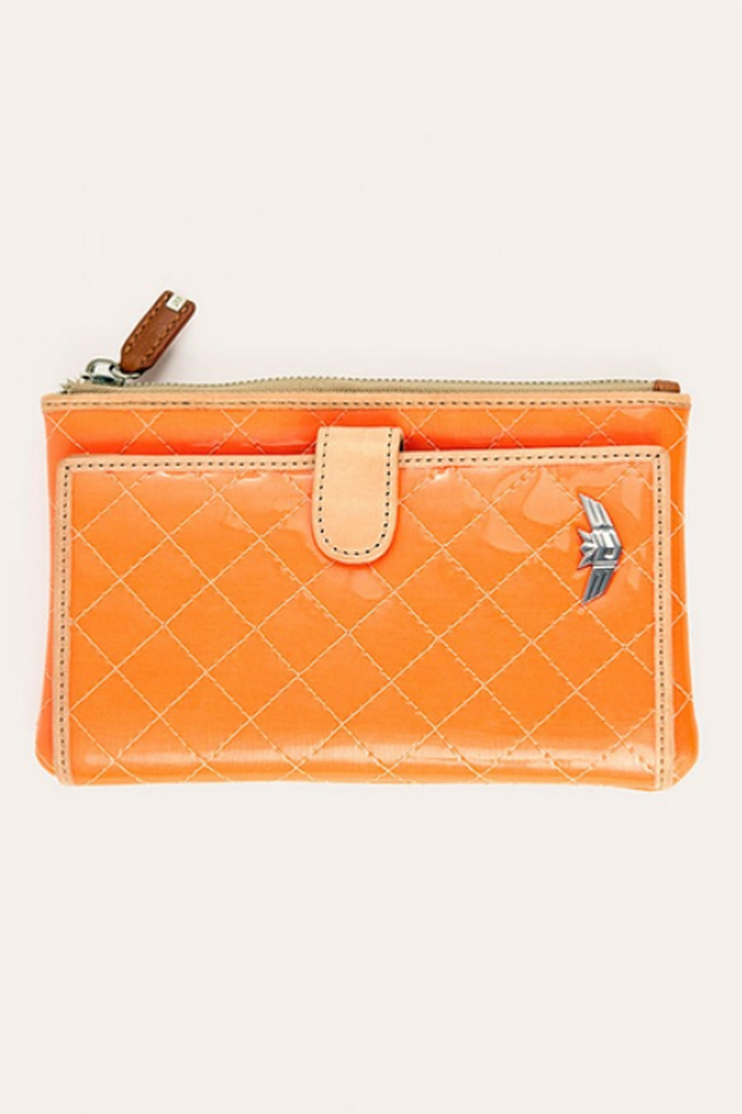 The Birds Nest SLIM WALLET-CANDY TANGERINE - Front Cropped Image