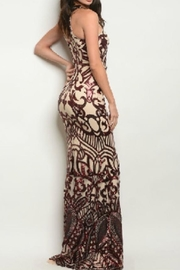Ricarica Slimming Sequin Gown - Front full body