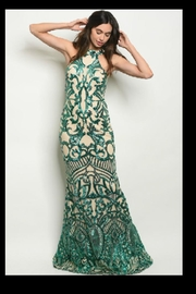 Ricarica Slimming Sequin Gown - Front cropped