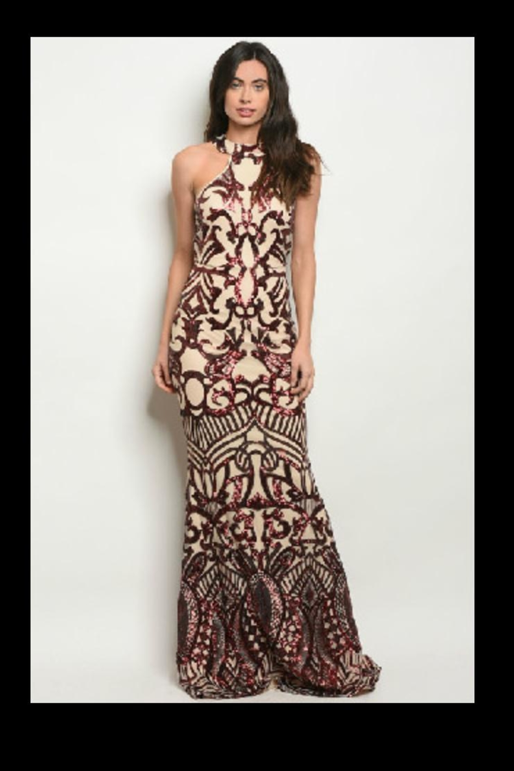 Ricarica Slimming Sequin Gown - Main Image