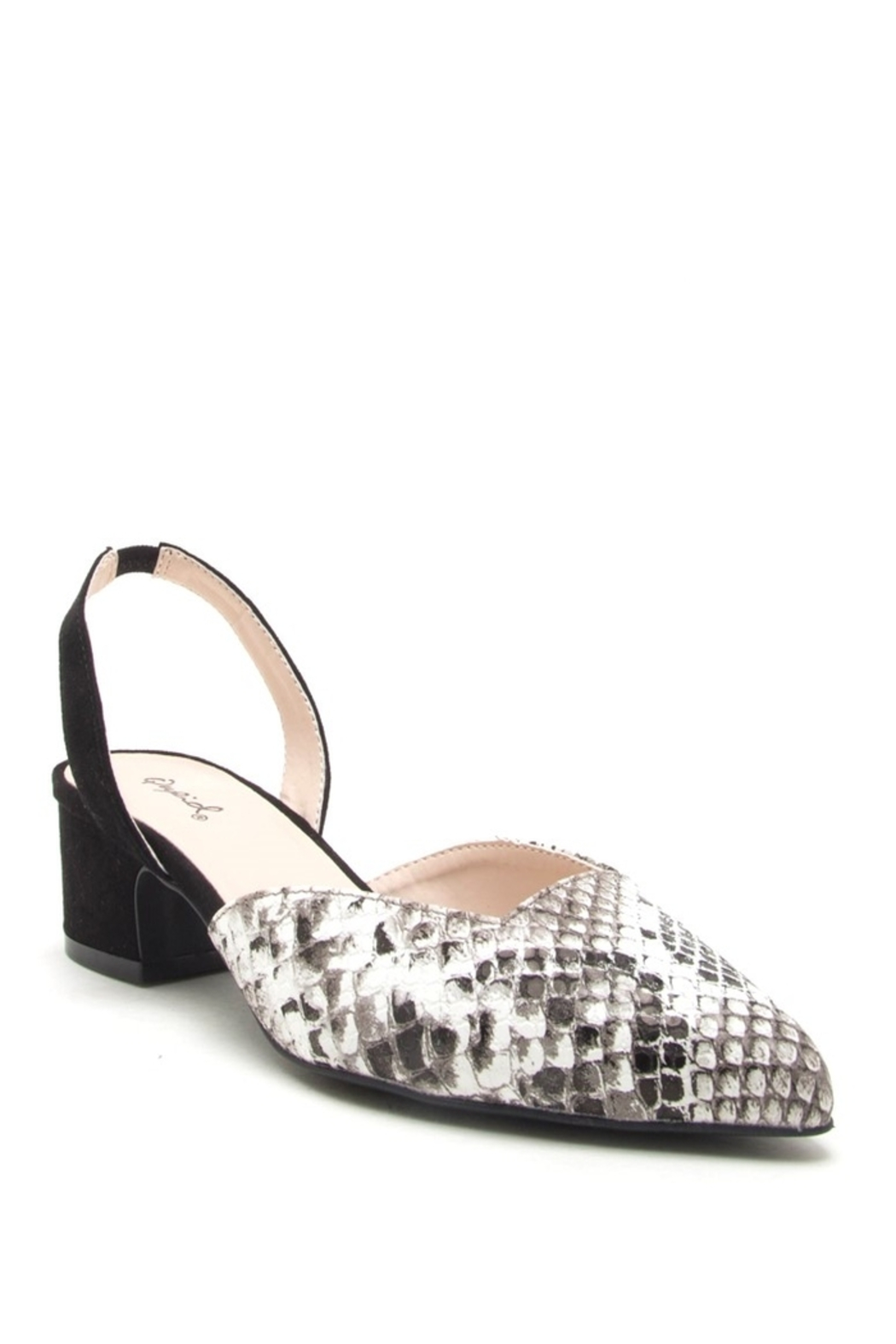 Qupid Sling Back Mules - Front Cropped Image